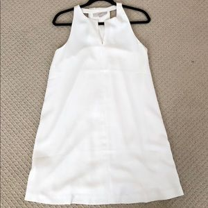 Beautiful white LOFT shift dress, size small
